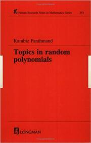 Topics in Random Polynomials - 1st Edition book cover