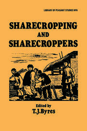 Sharecropping and Sharecroppers - 1st Edition book cover