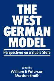 The West German Model - 1st Edition book cover