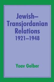 Jewish-Transjordanian Relations 1921-1948 - 1st Edition book cover