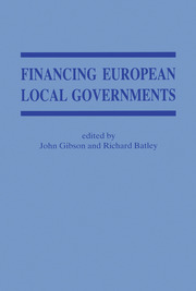Financing European Local Government - 1st Edition book cover