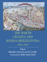 War In Croatia And Bosnia-Herz - 1st Edition book cover