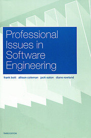 Professional Issues in Software Engineering - 3rd Edition book cover