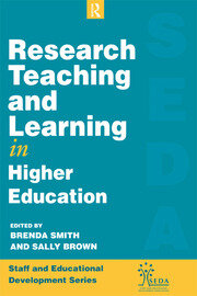 Research, Teaching and Learning in Higher Education - 1st Edition book cover