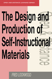 The Design and Production of Self-instructional Materials - 1st Edition book cover