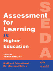 Assessment for Learning in Higher Education - 1st Edition book cover