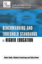 Benchmarking and Threshold Standards in Higher Education - 1st Edition book cover