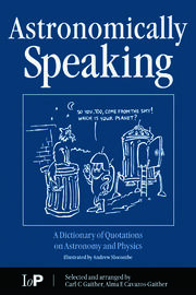 Astronomically Speaking - 1st Edition book cover