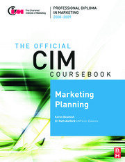 CIM Coursebook 08/09 Marketing Planning - 1st Edition book cover