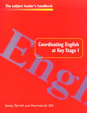 Coordinating English at Key Stage 1 - 1st Edition book cover