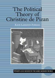 The Political Theory of Christine de Pizan - 1st Edition book cover