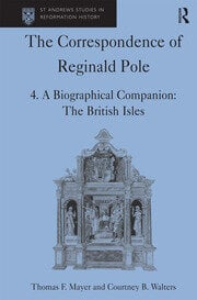 The Correspondence of Reginald Pole - 1st Edition book cover