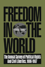 Freedom in the World: 1996-1997 - 1st Edition book cover