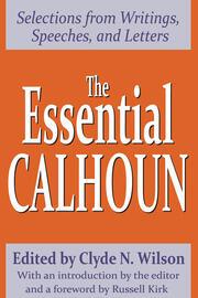 The Essential Calhoun - 1st Edition book cover