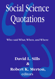 Social Science Quotations - 1st Edition book cover