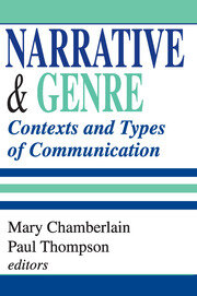 Narrative and Genre - 1st Edition book cover
