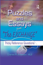Puzzles and Essays from 'The Exchange' - 1st Edition book cover