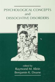 Psychological Concepts and Dissociative Disorders - 1st Edition book cover