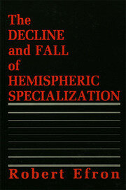 The Decline and Fall of Hemispheric Specialization - 1st Edition book cover