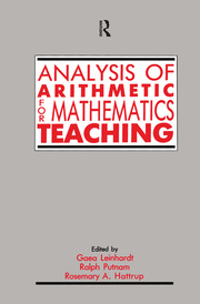 Analysis of Arithmetic for Mathematics Teaching - 1st Edition book cover