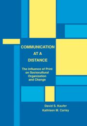 Communication at A Distance - 1st Edition book cover