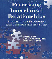 Processing interclausal Relationships - 1st Edition book cover
