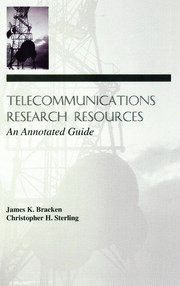 Telecommunications Research Resources - 1st Edition book cover