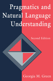 Pragmatics and Natural Language Understanding - 2nd Edition book cover