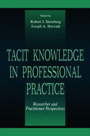 Tacit Knowledge in Professional Practice - 1st Edition book cover