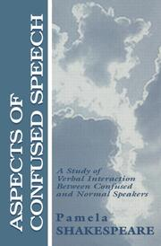 Aspects of Confused Speech - 1st Edition book cover