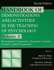 Handbook of Demonstrations and Activities in the Teaching of Psychology - 2nd Edition book cover