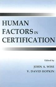 Human Factors in Certification - 1st Edition book cover
