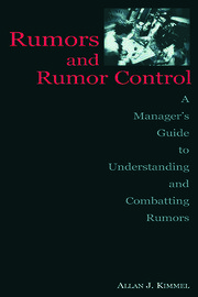 Rumors and Rumor Control - 1st Edition book cover