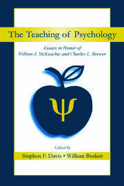 The Teaching of Psychology - 1st Edition book cover