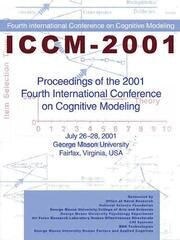 Proceedings of the 2001 Fourth International Conference on Cognitive Modeling - 1st Edition book cover