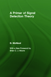 A Primer of Signal Detection Theory - 1st Edition book cover