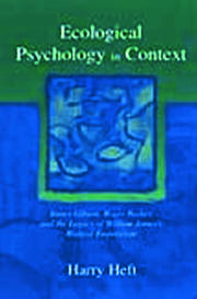 Ecological Psychology in Context - 1st Edition book cover