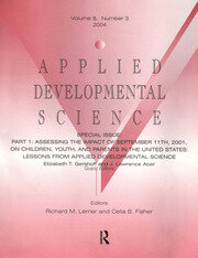 Part I: Assessing the Impact of September 11th, 2001, on Children, Youth, and Parents in the United States - 1st Edition book cover