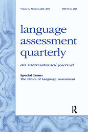The Ethics of Language Assessment - 1st Edition book cover