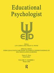 Using Qualitative Methods To Enrich Understandings of Self-regulated Learning - 1st Edition book cover