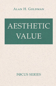 Aesthetic Value - 1st Edition book cover