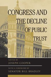 Congress and the Decline of Public Trust - 1st Edition book cover