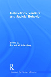 Instructions, Verdicts, and Judicial Behavior - 1st Edition book cover