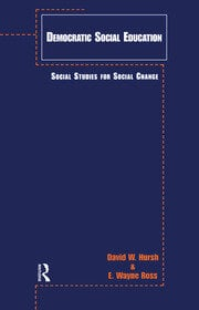 Democratic Social Education - 1st Edition book cover