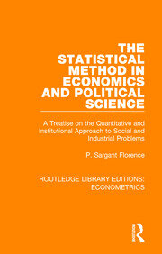 The Statistical Method in Economics and Political Science - 1st Edition book cover