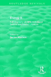 Routledge Revivals: Energy II (1977) - 1st Edition book cover