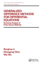 Generalized Difference Methods for Differential Equations - 1st Edition book cover