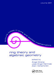 Ring Theory And Algebraic Geometry - 1st Edition book cover