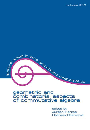 Geometric And Combinatorial Aspects Of Commutative Algebra