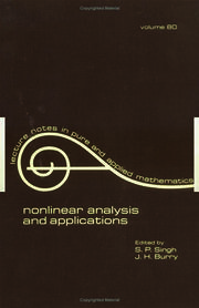 nonlinear analysis and applications - 1st Edition book cover